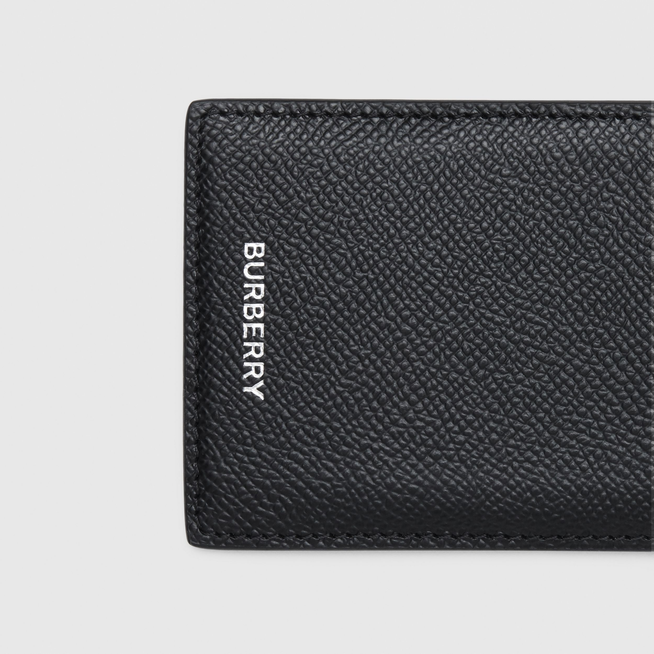 Grainy Leather Card Case in Black - Men | Burberry - 2