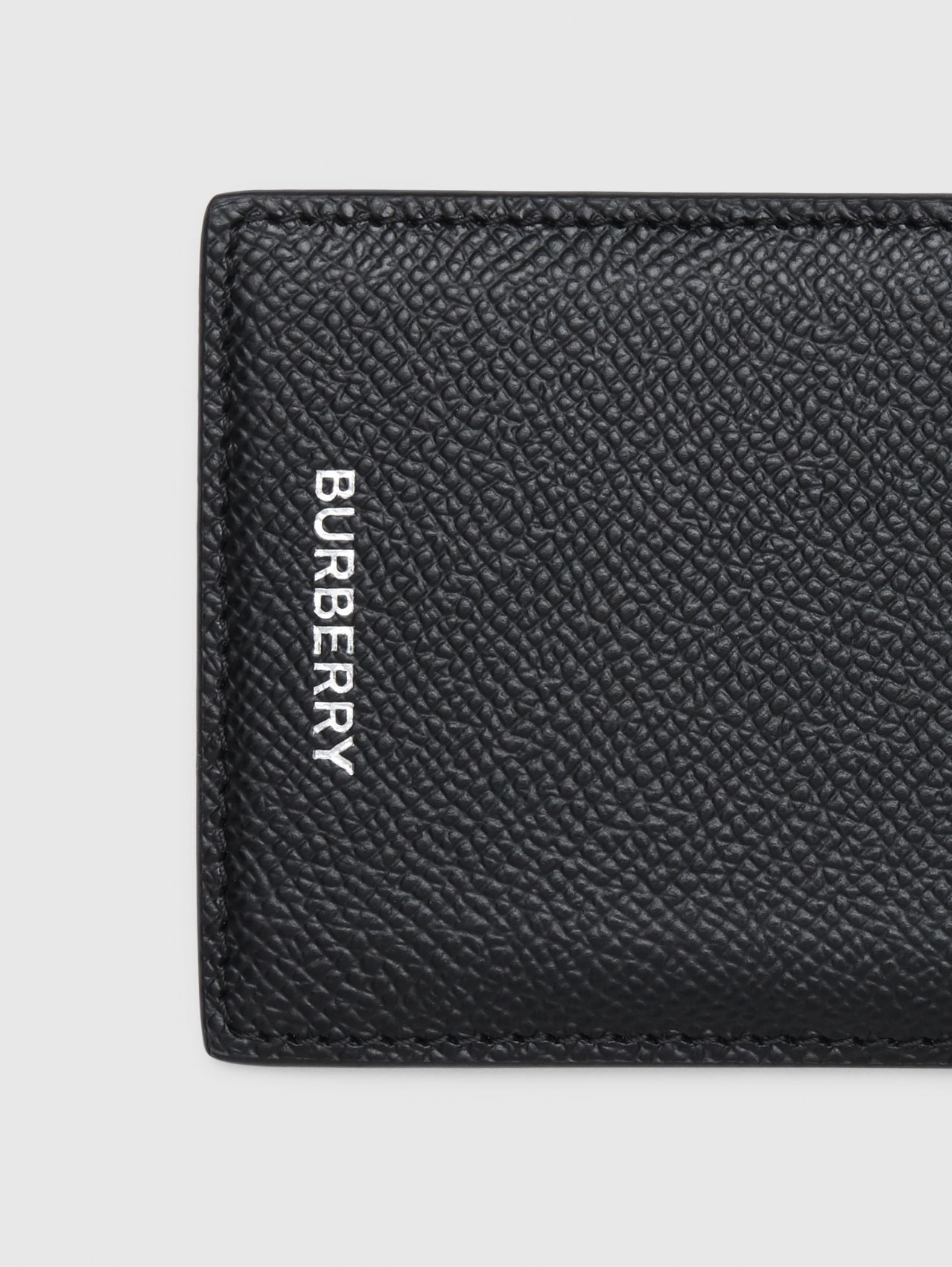 Grainy Leather Card Case (Black)