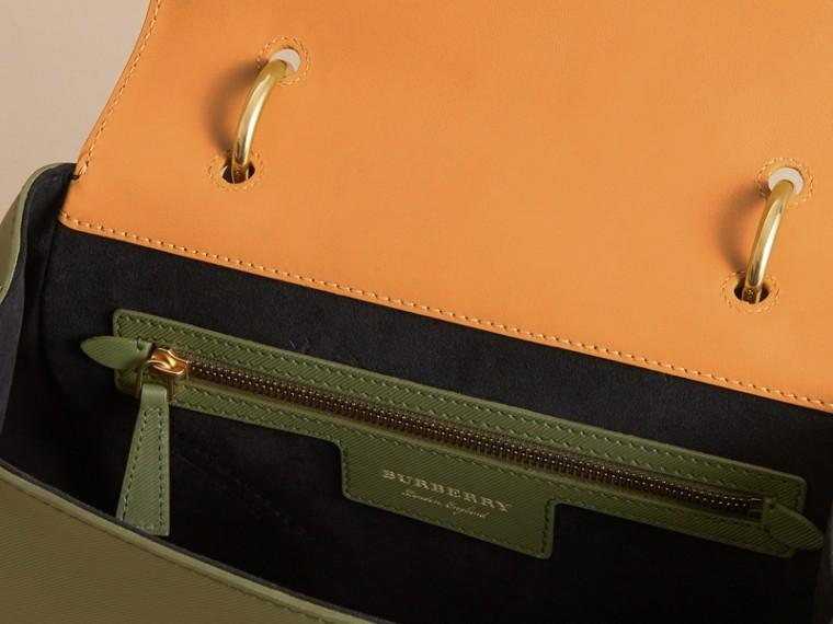 The Medium DK88 Top Handle Bag Moss Green/ochre Yellow - cell image 4