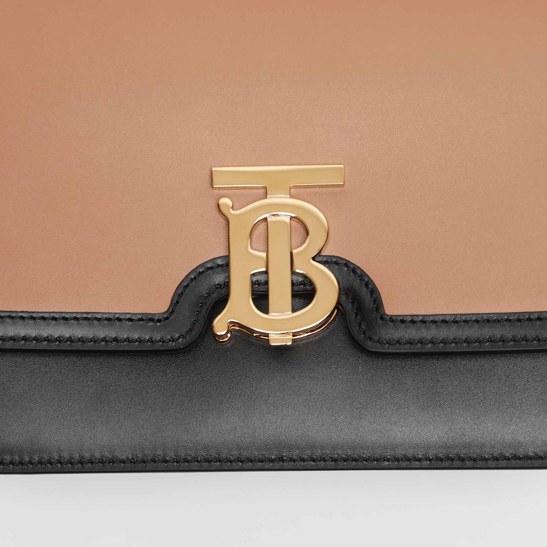 Small Leather TB Bag in Light Camel/black - Women | Burberry Australia - gallery image 8