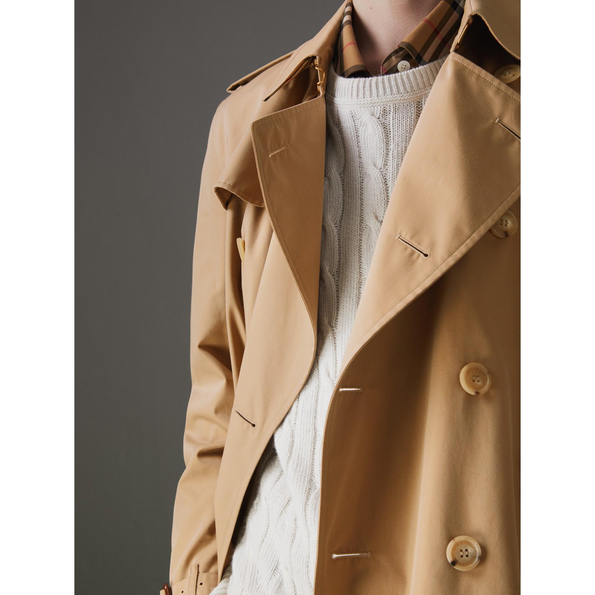 The Kensington Heritage Trench Coat in Honey - Men   Burberry - gallery image 4