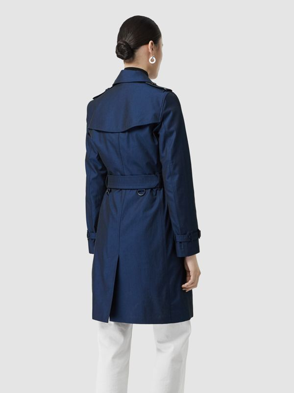 Kensington Fit Tropical Gabardine Trench Coat in Bright Regency Blue - Women | Burberry United Kingdom - cell image 2