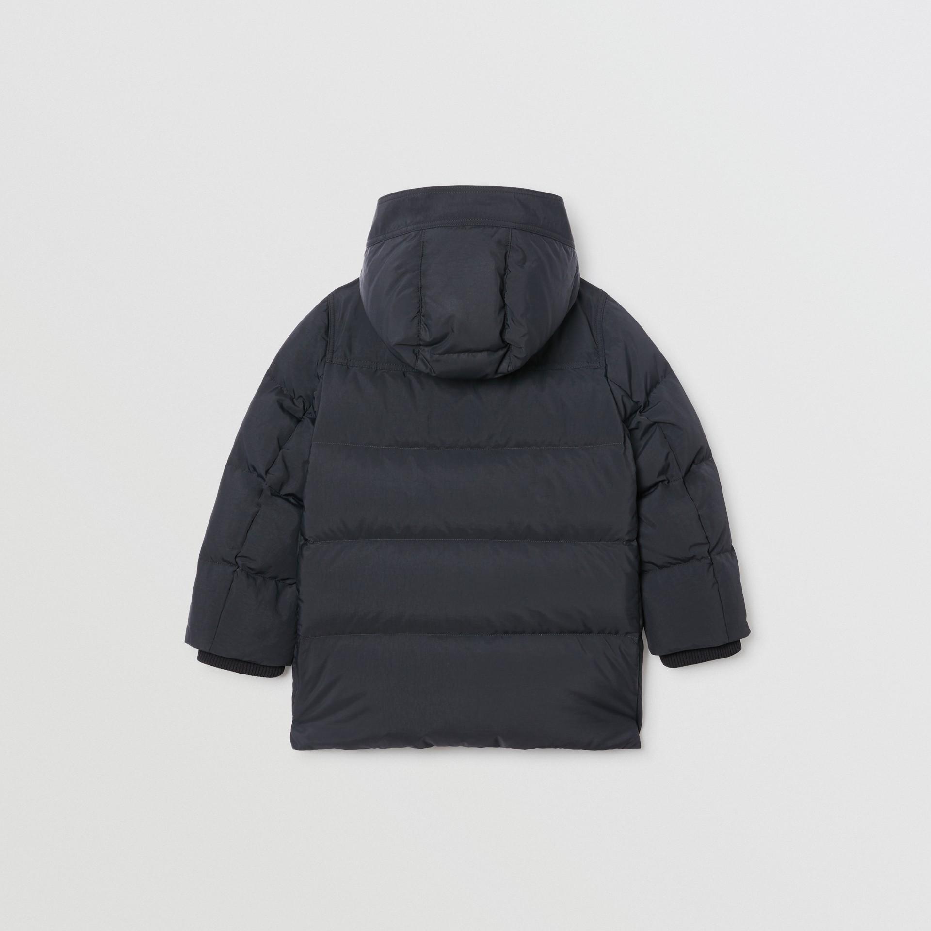 Пальто на пуху со съемным капюшоном (Черный) | Burberry - изображение 3