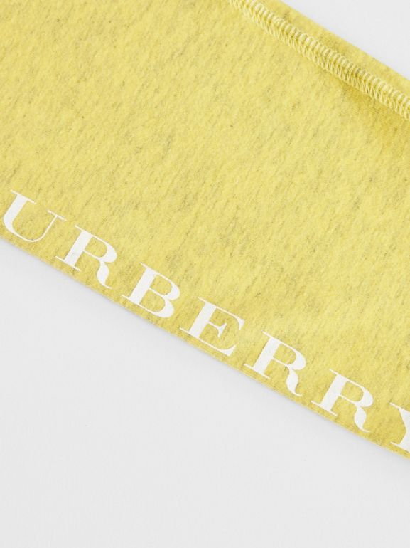 Logo Print Stretch Cotton Leggings in Citrus Yellow | Burberry United Kingdom - cell image 1