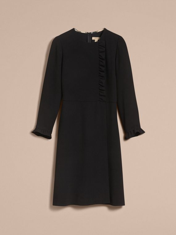 Ruffle Trim Crepe Dress - cell image 3