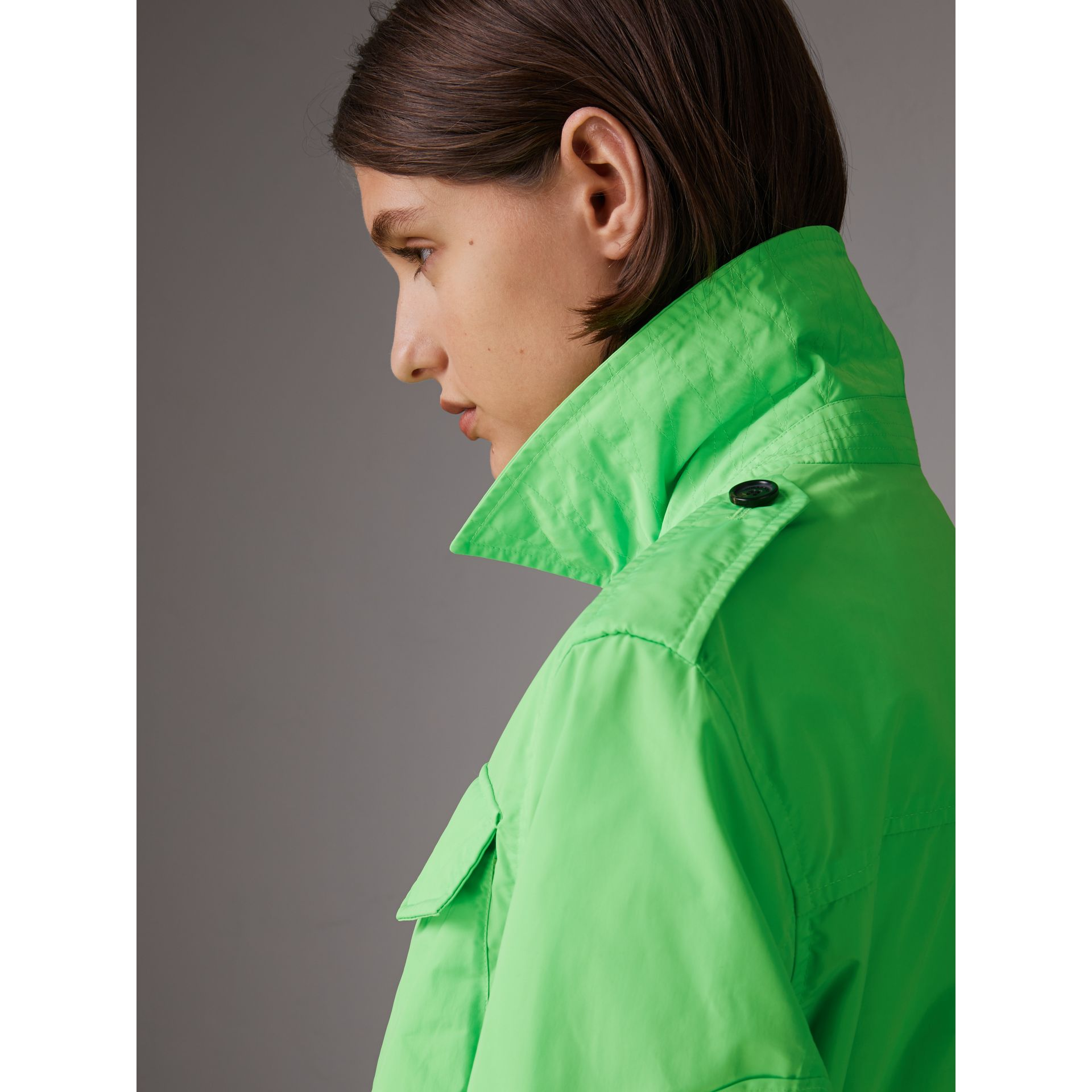 Taffeta Field Jacket in Neon Green | Burberry - gallery image 1