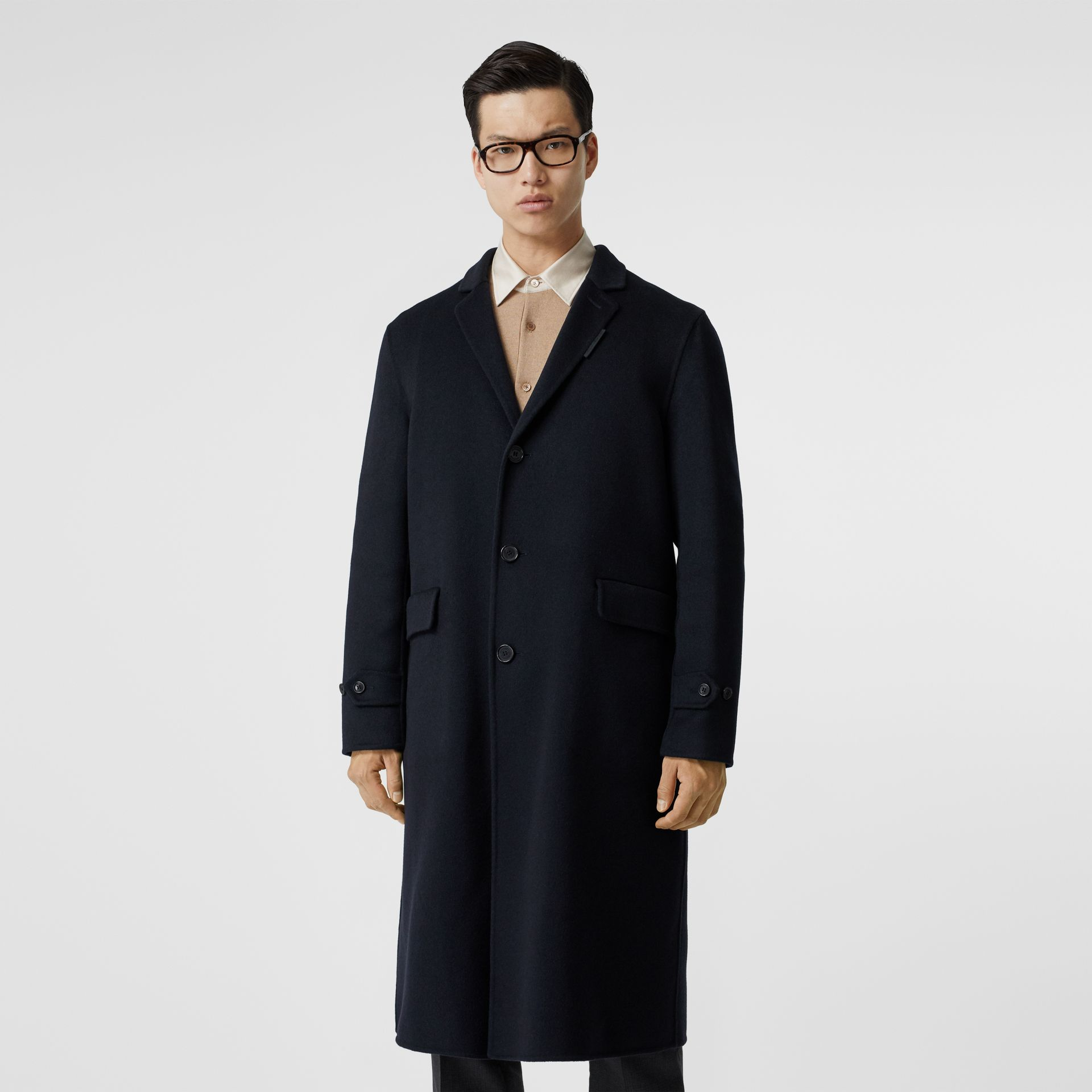 Cashmere Lab Coat in Navy - Men | Burberry Australia - gallery image 7