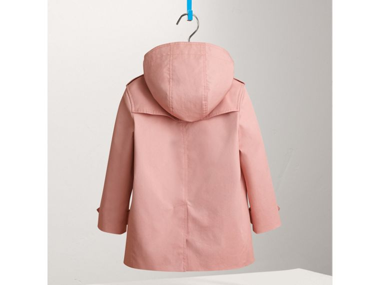 Detachable Hood Cotton Trench Coat in Pale Rose - Girl | Burberry - cell image 2