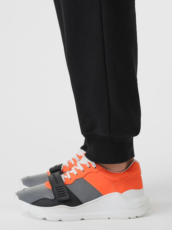 Colour Block Sneakers in Silver Grey/orange - Men | Burberry - cell image 2