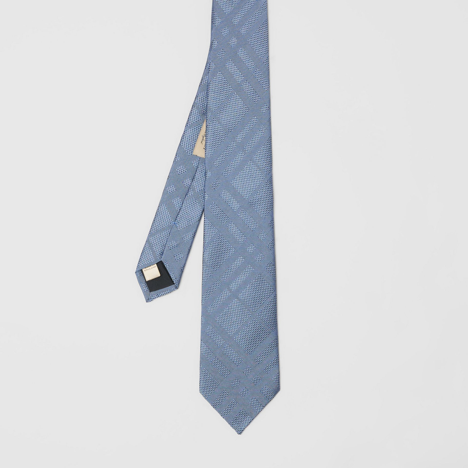 Modern Cut Check Silk Tie in Sky Blue - Men | Burberry Australia - gallery image 2