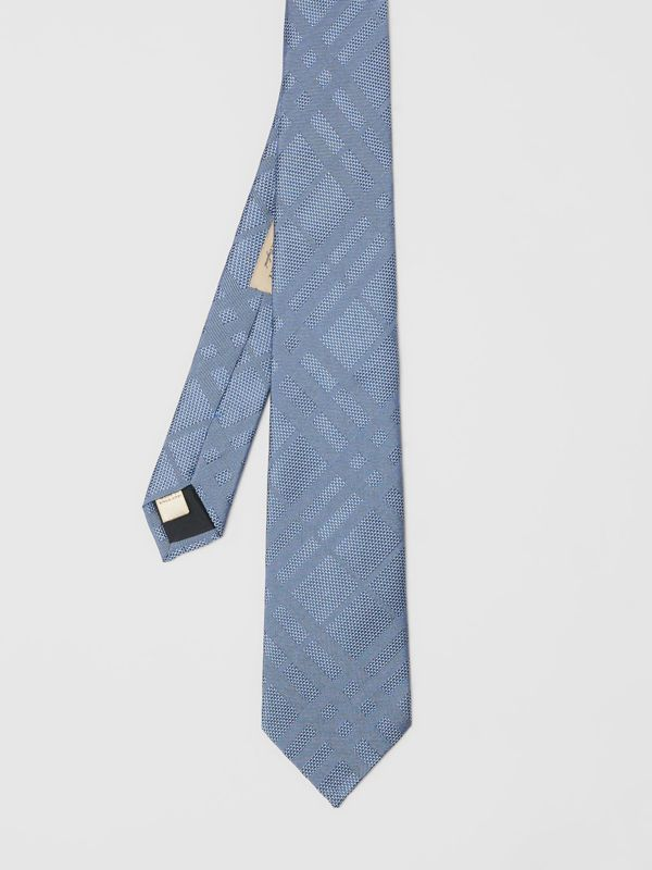 Modern Cut Check Silk Tie in Sky Blue - Men | Burberry Australia - cell image 2