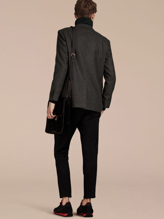 Charcoal/black Slim Fit Check Wool Tailored Jacket - cell image 2