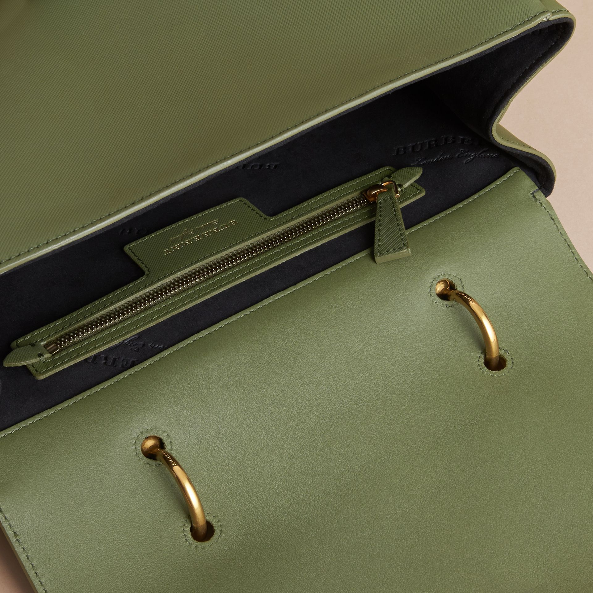 The Large DK88 Top Handle Bag Moss Green - gallery image 6