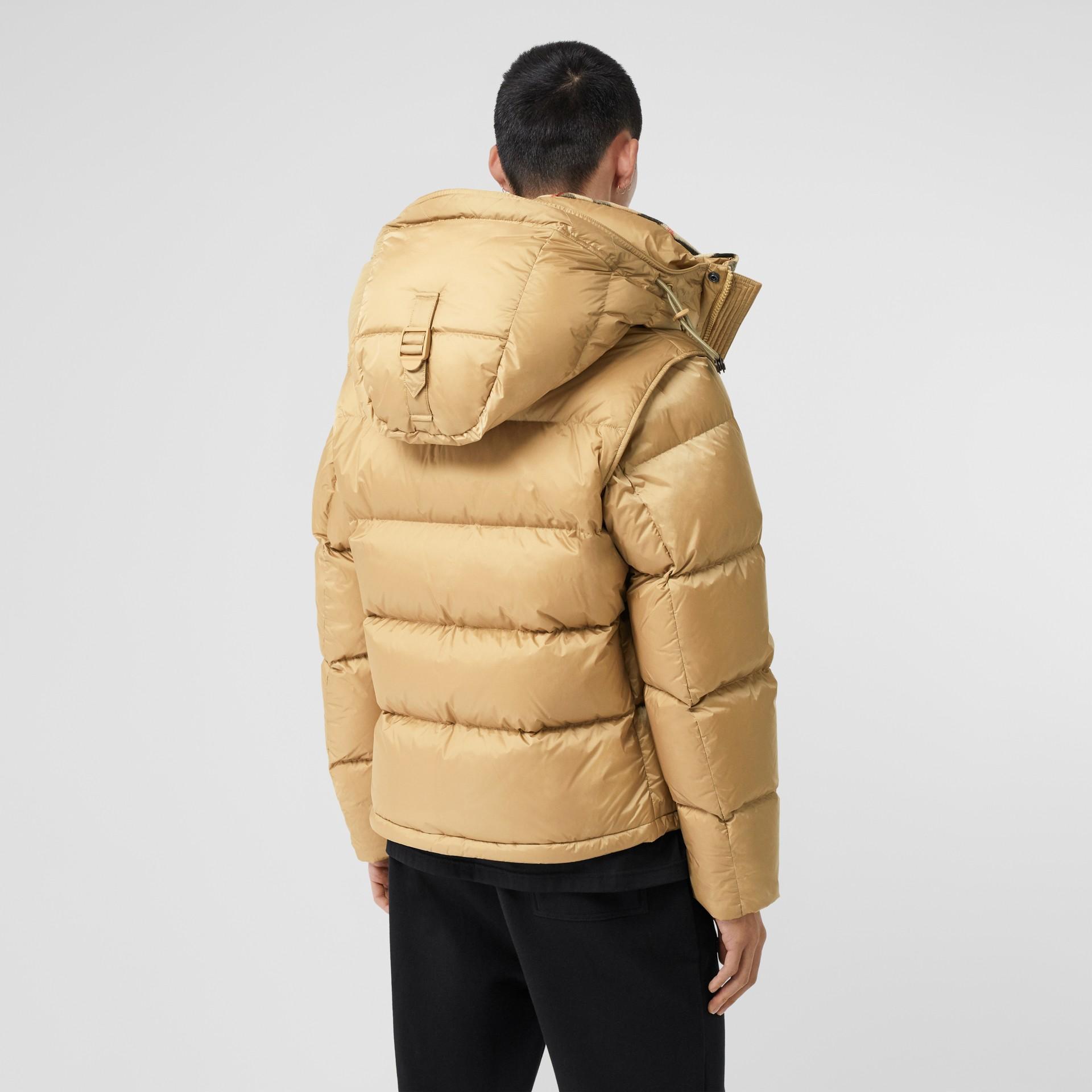 Detachable Sleeve Hooded Puffer Jacket in Honey - Men | Burberry - gallery image 2