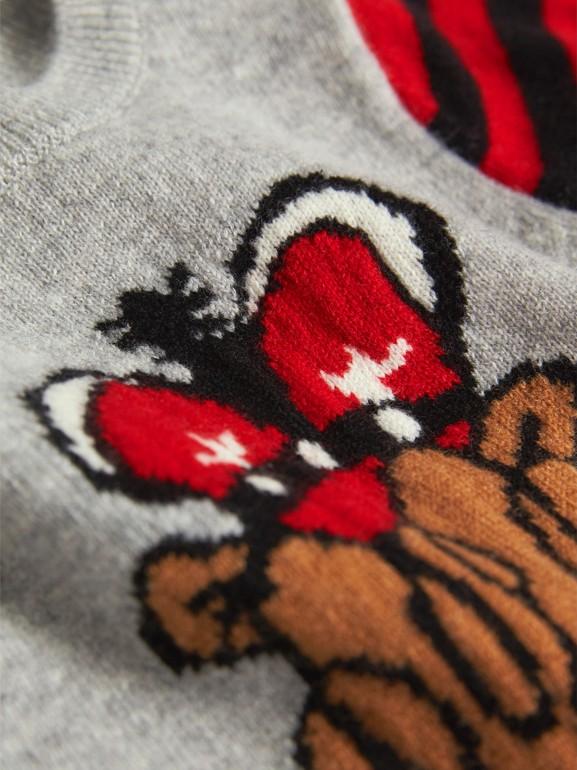 Tutina in cashmere con motivo London Icons a intarsio (Grigio Mélange) | Burberry - cell image 1
