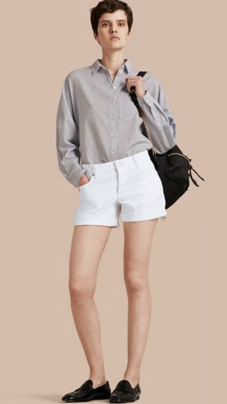 Low-Rise Japanese Denim Shorts