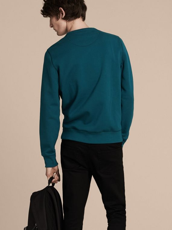Mineral blue Cotton Blend Jersey Sweatshirt - cell image 2