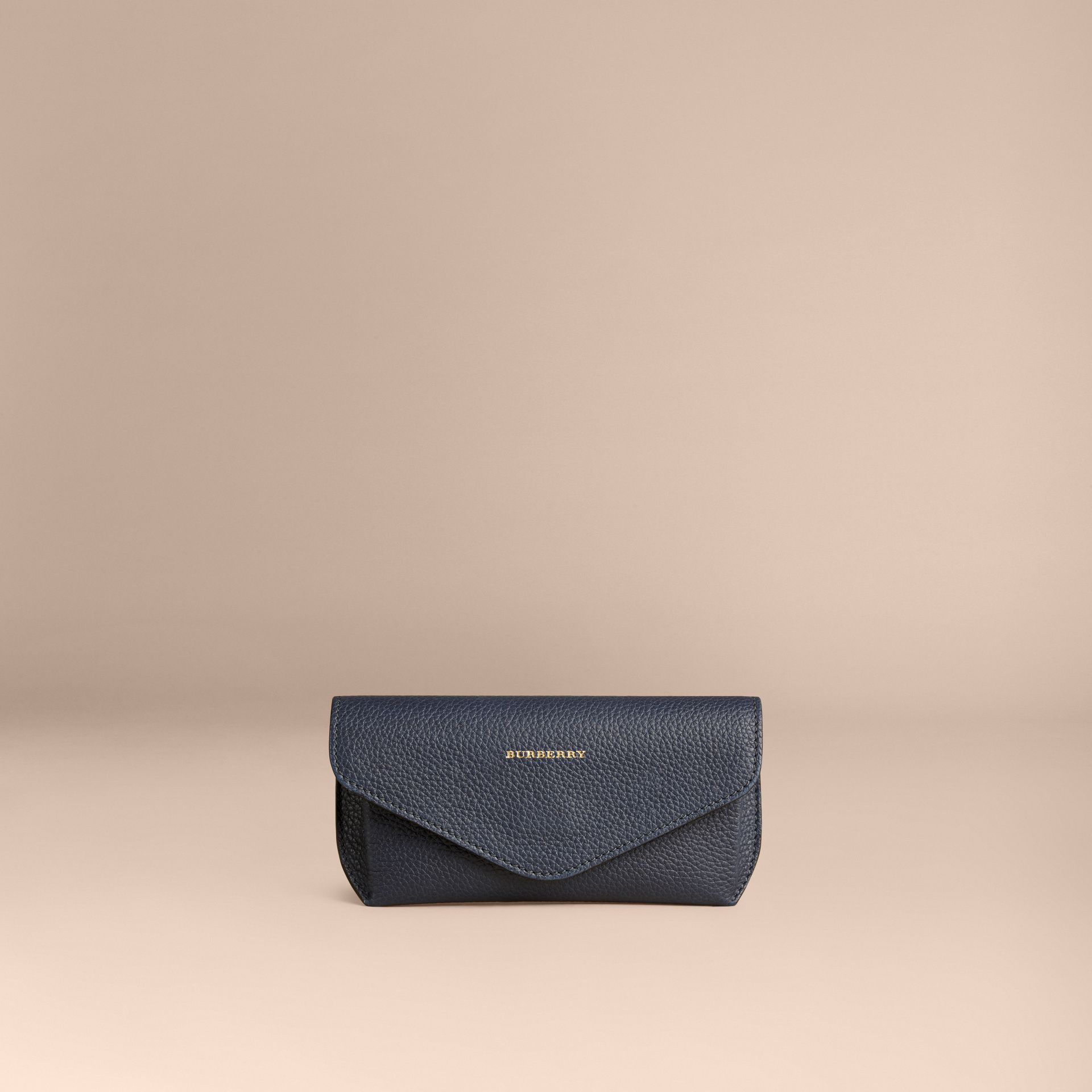 Bright navy Grainy Leather Eyewear Case Bright Navy - gallery image 3