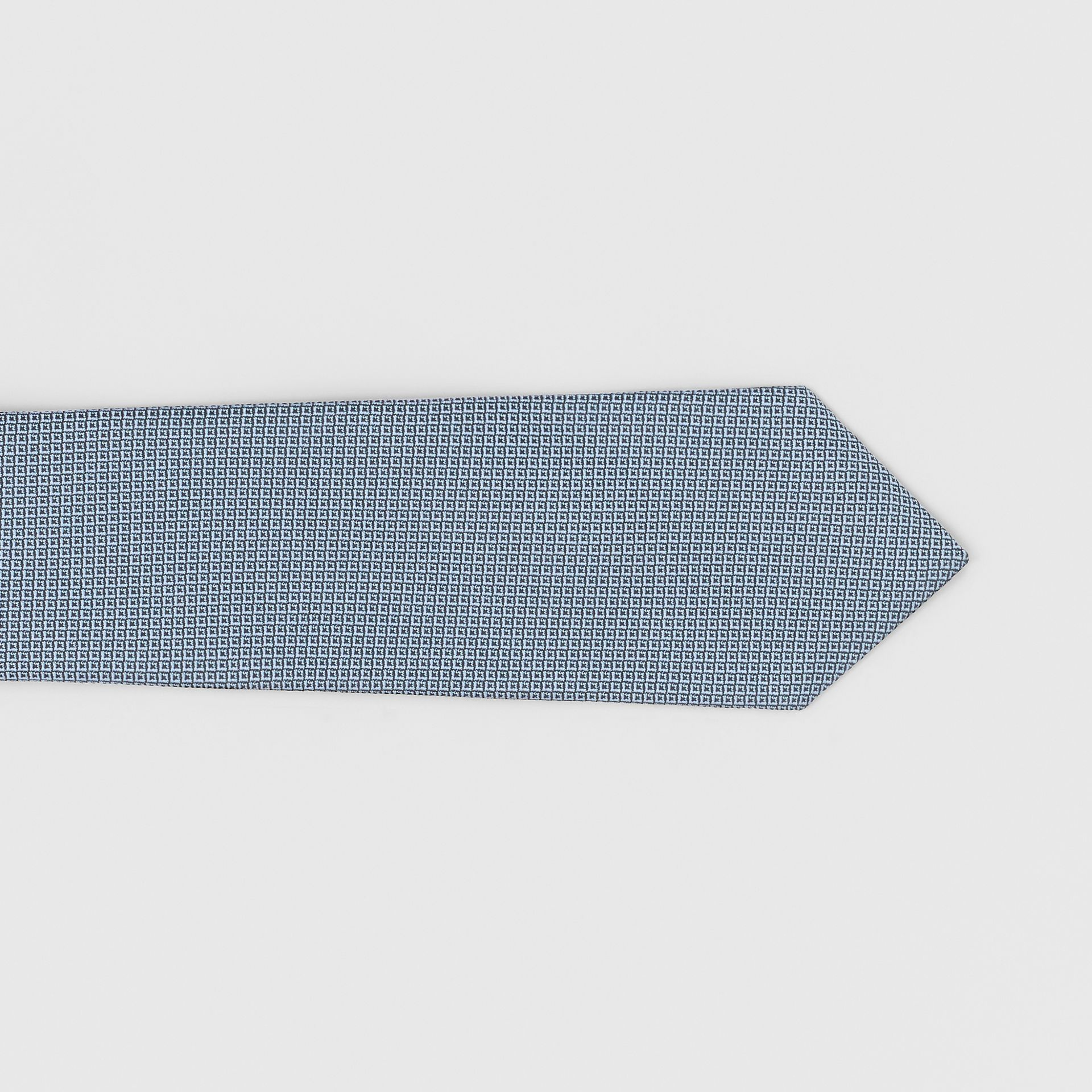 Classic Cut Micro Dot Silk Jacquard Tie in Powder Blue - Men | Burberry - gallery image 1