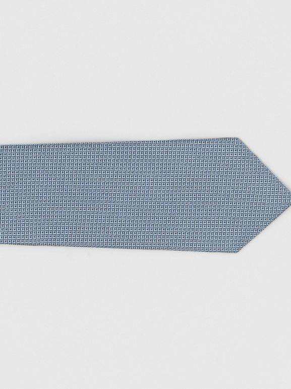 Classic Cut Micro Dot Silk Jacquard Tie in Powder Blue - Men | Burberry - cell image 1