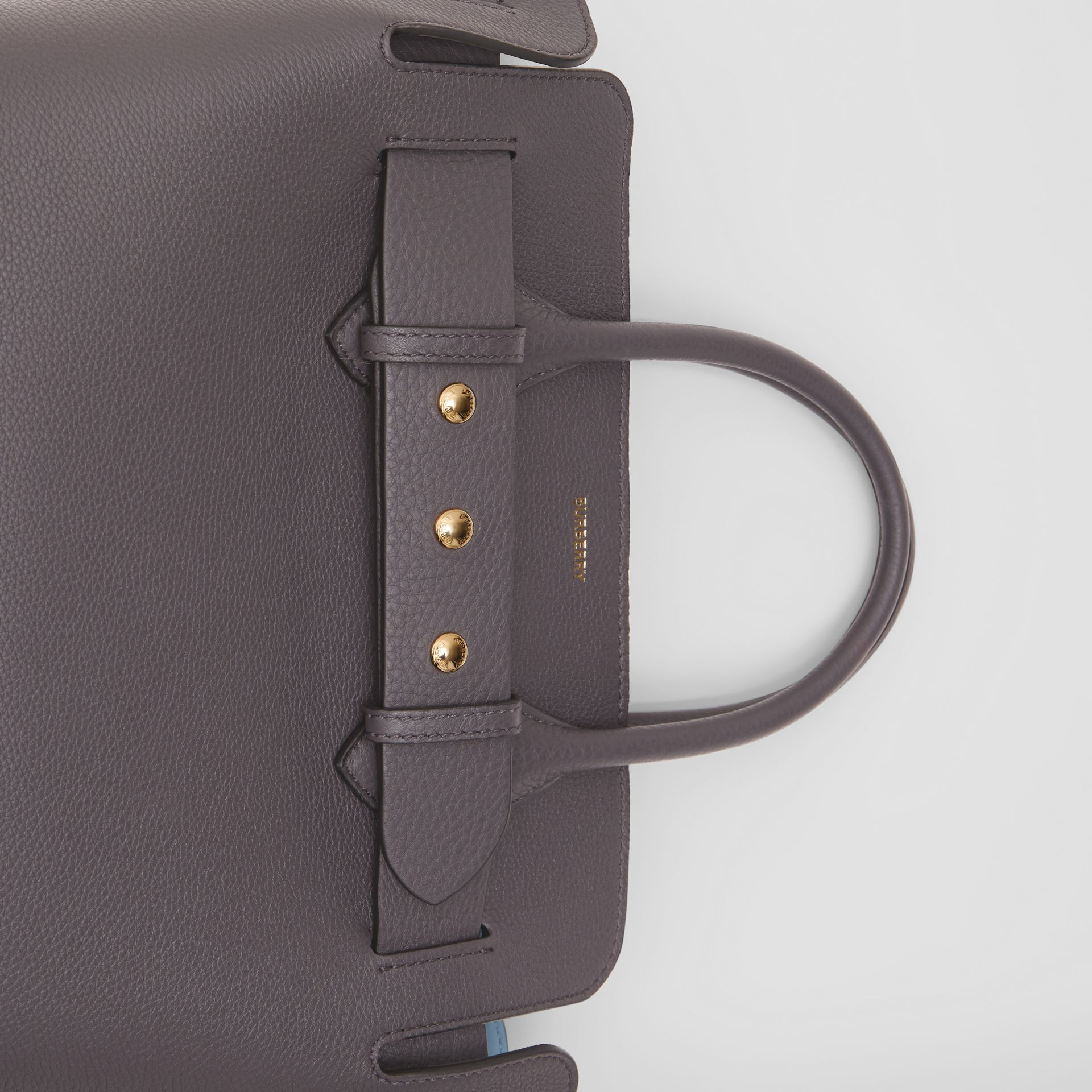 The Small Leather Triple Stud Belt Bag in Charcoal Grey - Women | Burberry - gallery image 1