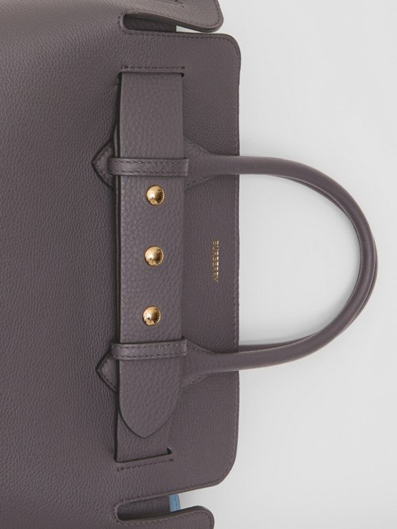 The Small Leather Triple Stud Belt Bag in Charcoal Grey - Women | Burberry United Kingdom - cell image 1
