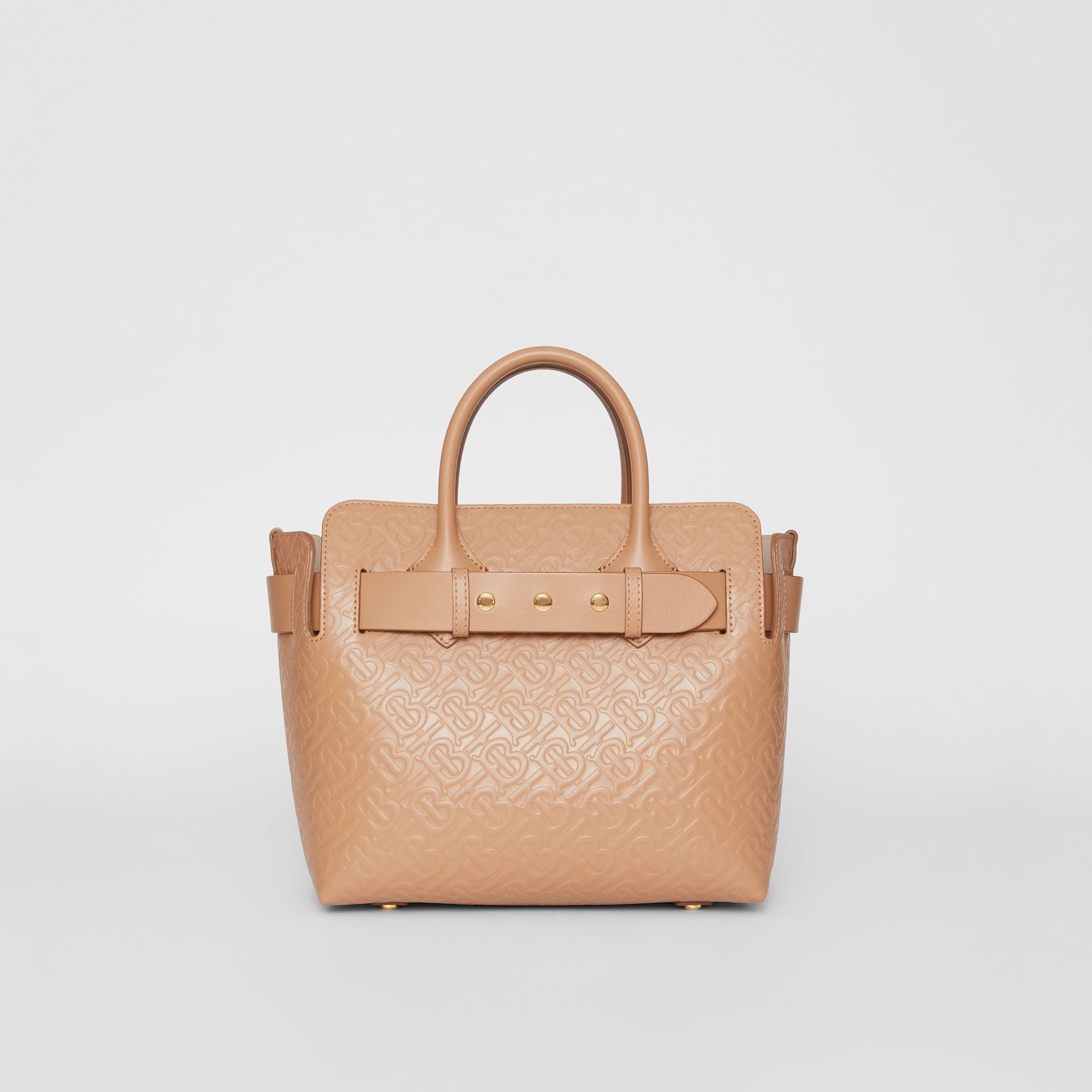 The Small Monogram Leather Triple Stud Belt Bag in Light Camel - Women | Burberry United States - gallery image 0