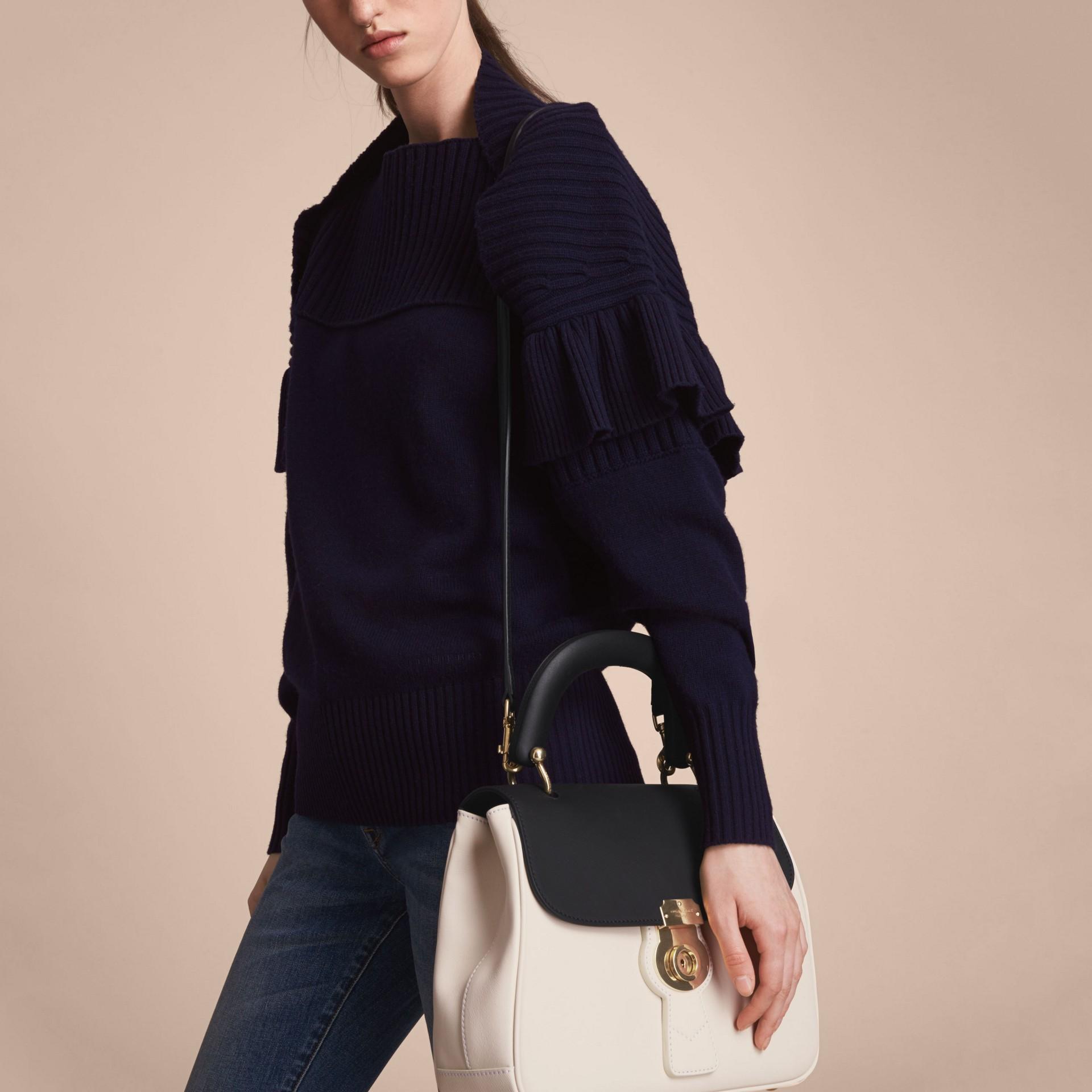 The Medium DK88 Top Handle Bag in Natural/black - gallery image 7