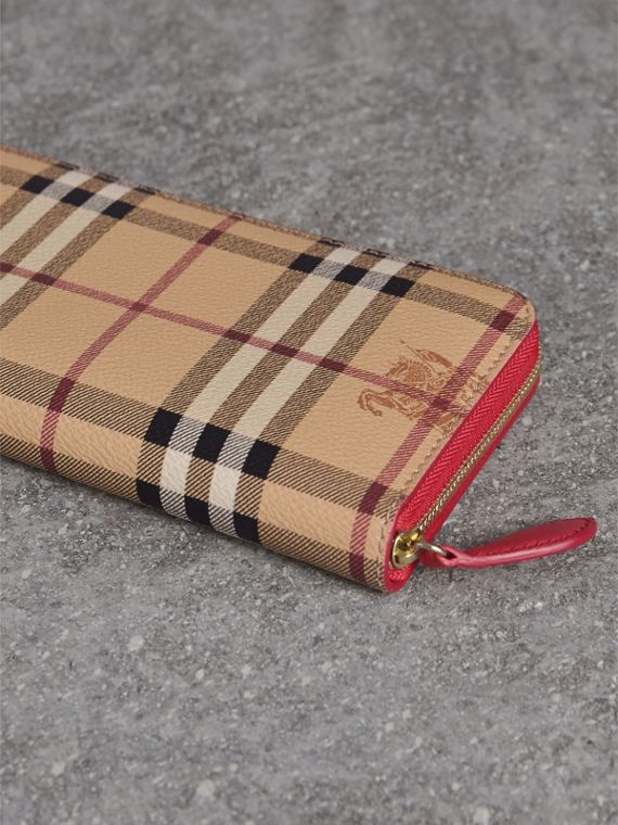 Haymarket Check and Leather Ziparound Wallet - Women | Burberry Canada - cell image 2