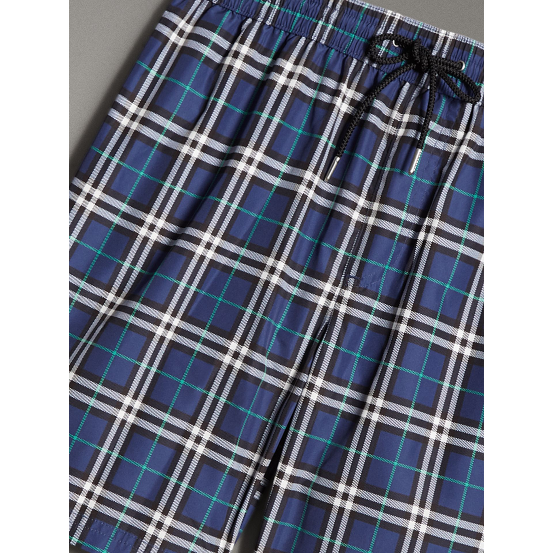 Vintage Check Drawcord Swim Shorts in Canvas Blue - Men | Burberry - gallery image 1