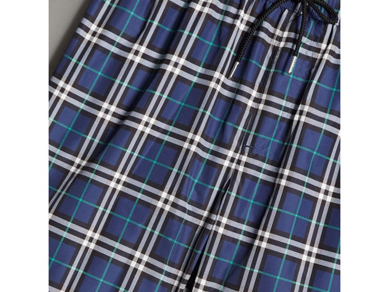 Vintage Check Drawcord Swim Shorts in Canvas Blue - Men | Burberry - cell image 1