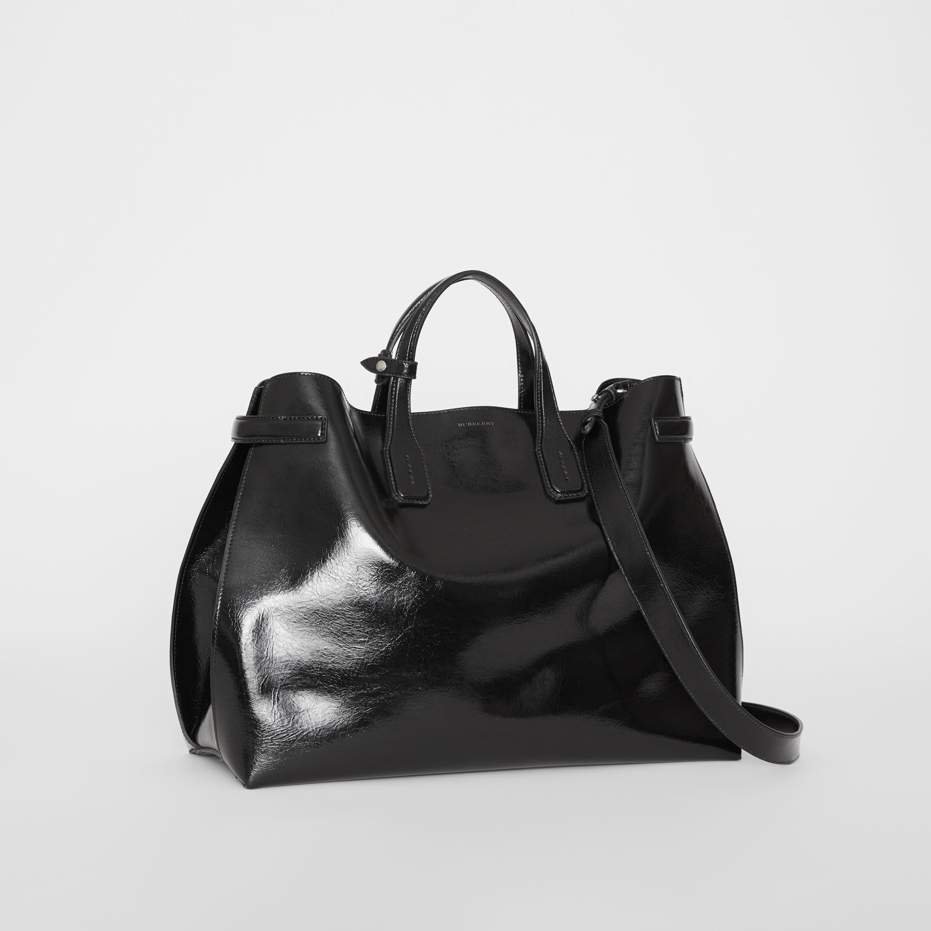 Grand sac The Banner en cuir doux (Noir) - Femme | Burberry Canada - photo de la galerie 6