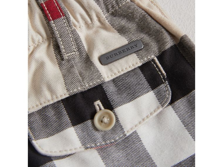 Check Cotton Chino Shorts in Stone | Burberry United States - cell image 1