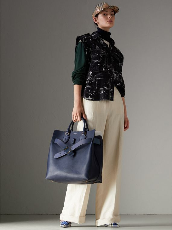 The Large Leather Belt Bag in Regency Blue | Burberry Singapore - cell image 2