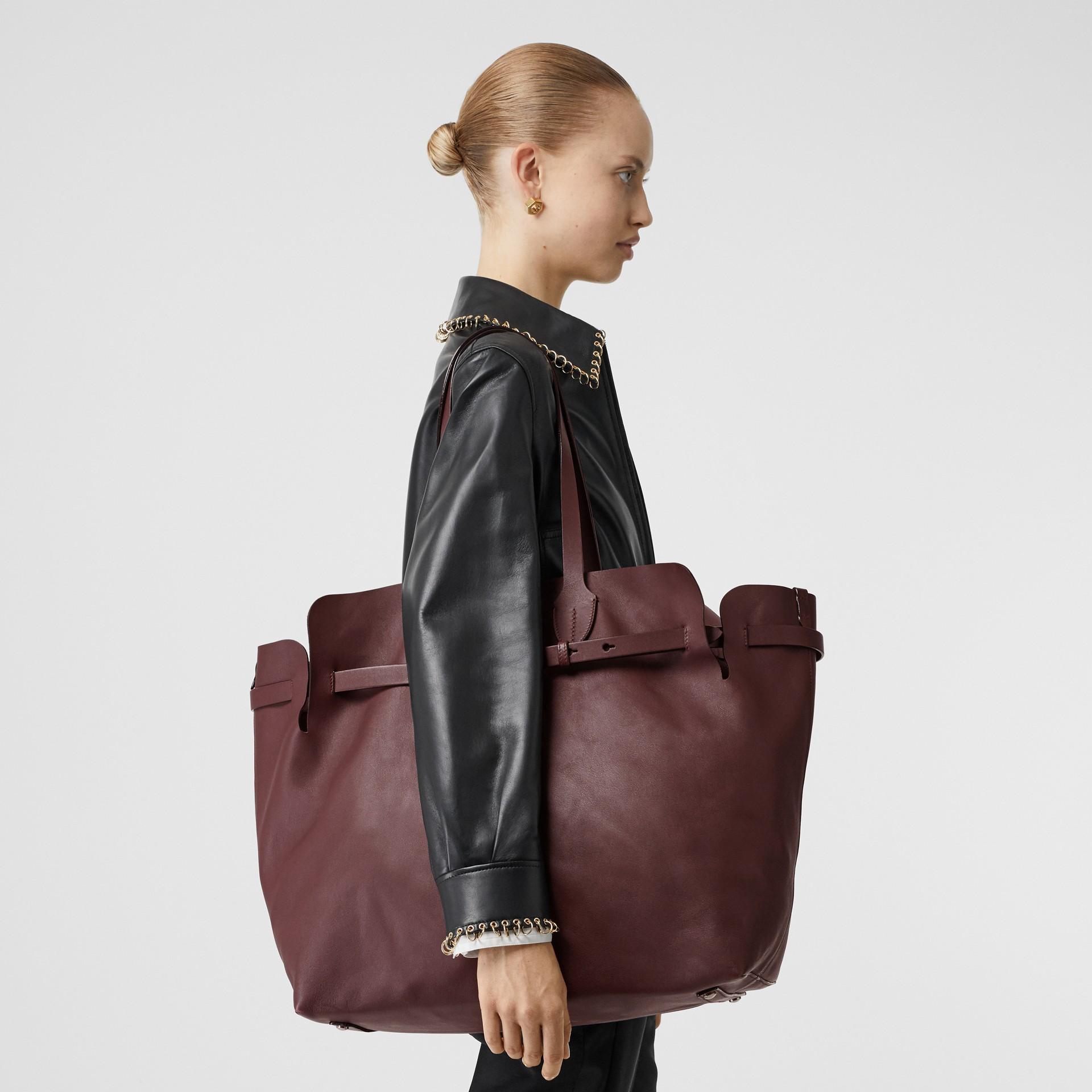 The Medium Soft Leather Belt Bag in Deep Claret - Women | Burberry - gallery image 2