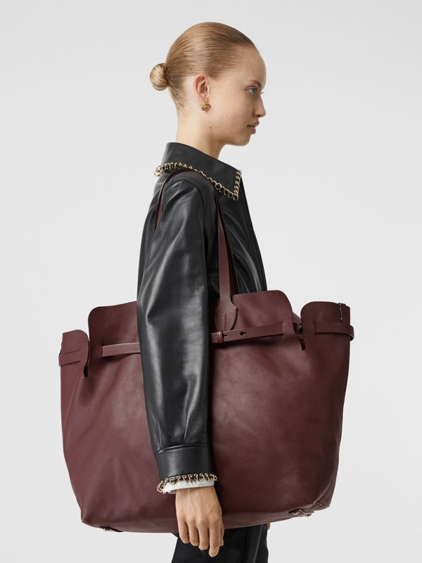 The Medium Soft Leather Belt Bag in Deep Claret - Women | Burberry - cell image 2