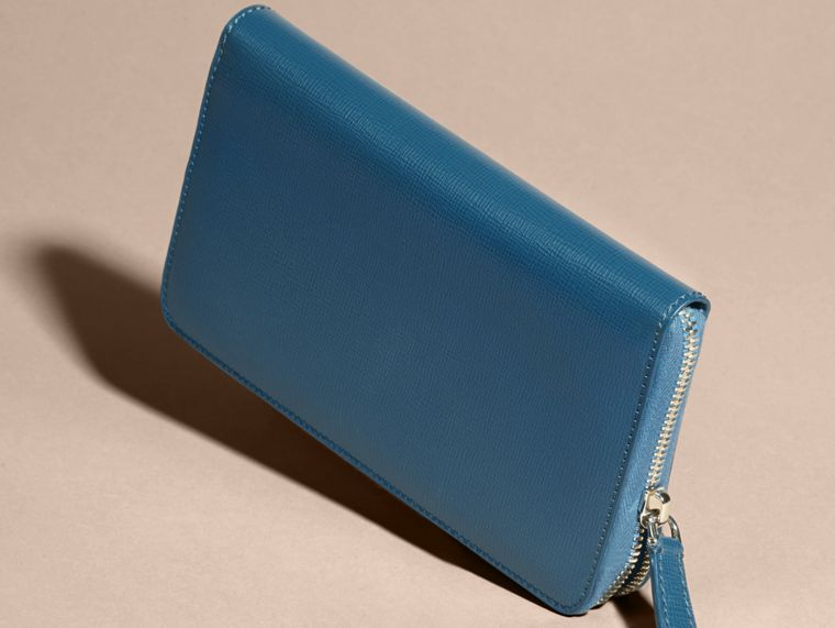 Mineral blue London Leather Ziparound Wallet Mineral Blue - cell image 4