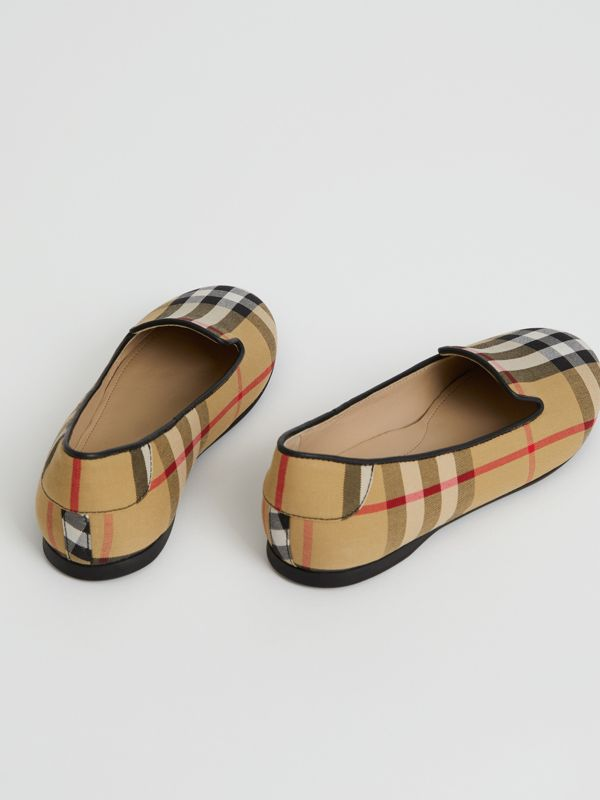 Chaussures sans lacets à motif Vintage check (Jaune Antique) | Burberry - cell image 2