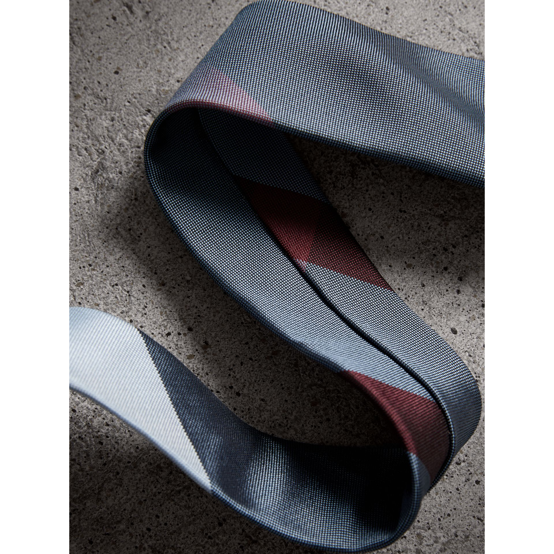 Modern Cut Check Silk Tie in Powder Blue - Men | Burberry - gallery image 2