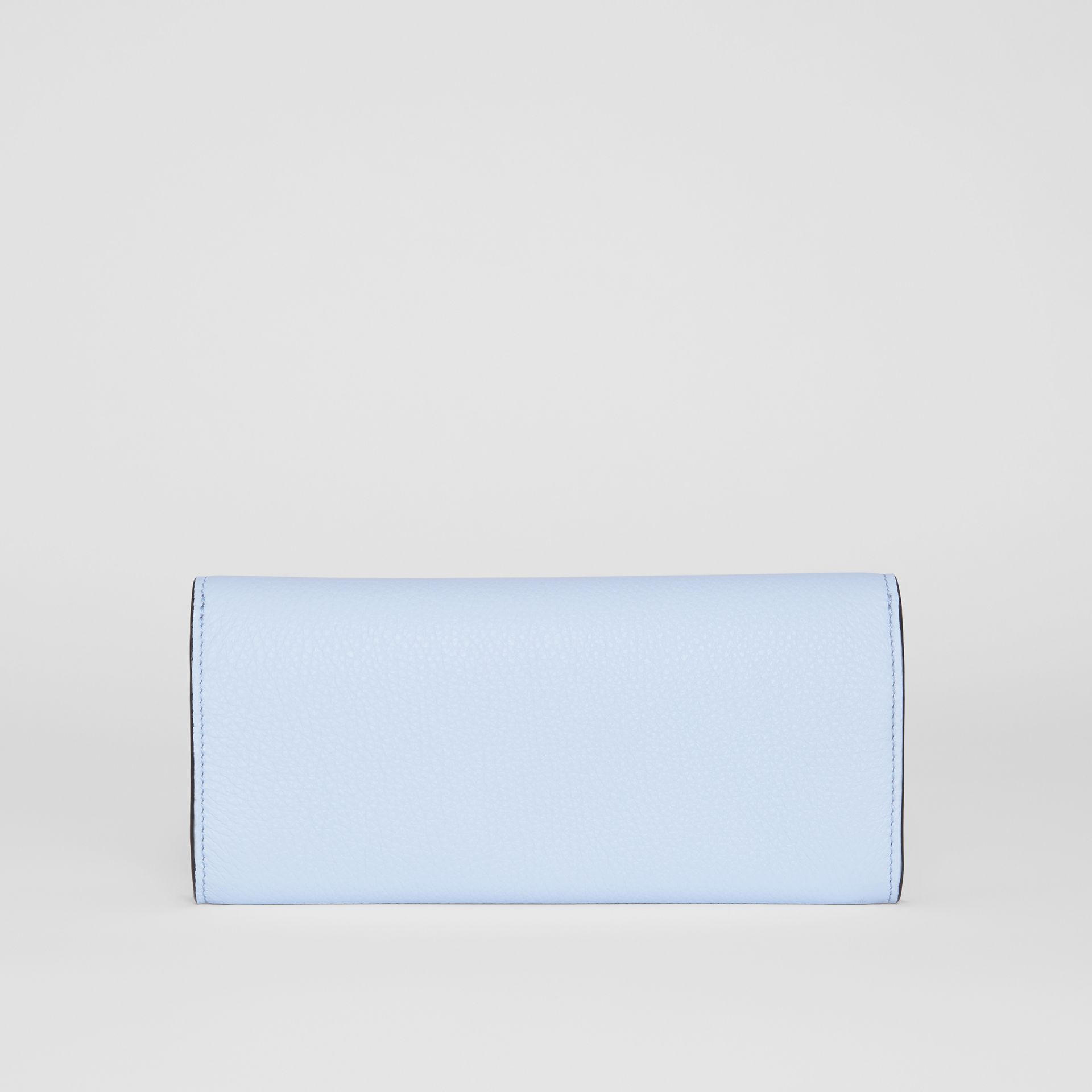 Grainy Leather Continental Wallet in Pale Blue - Women | Burberry - gallery image 6