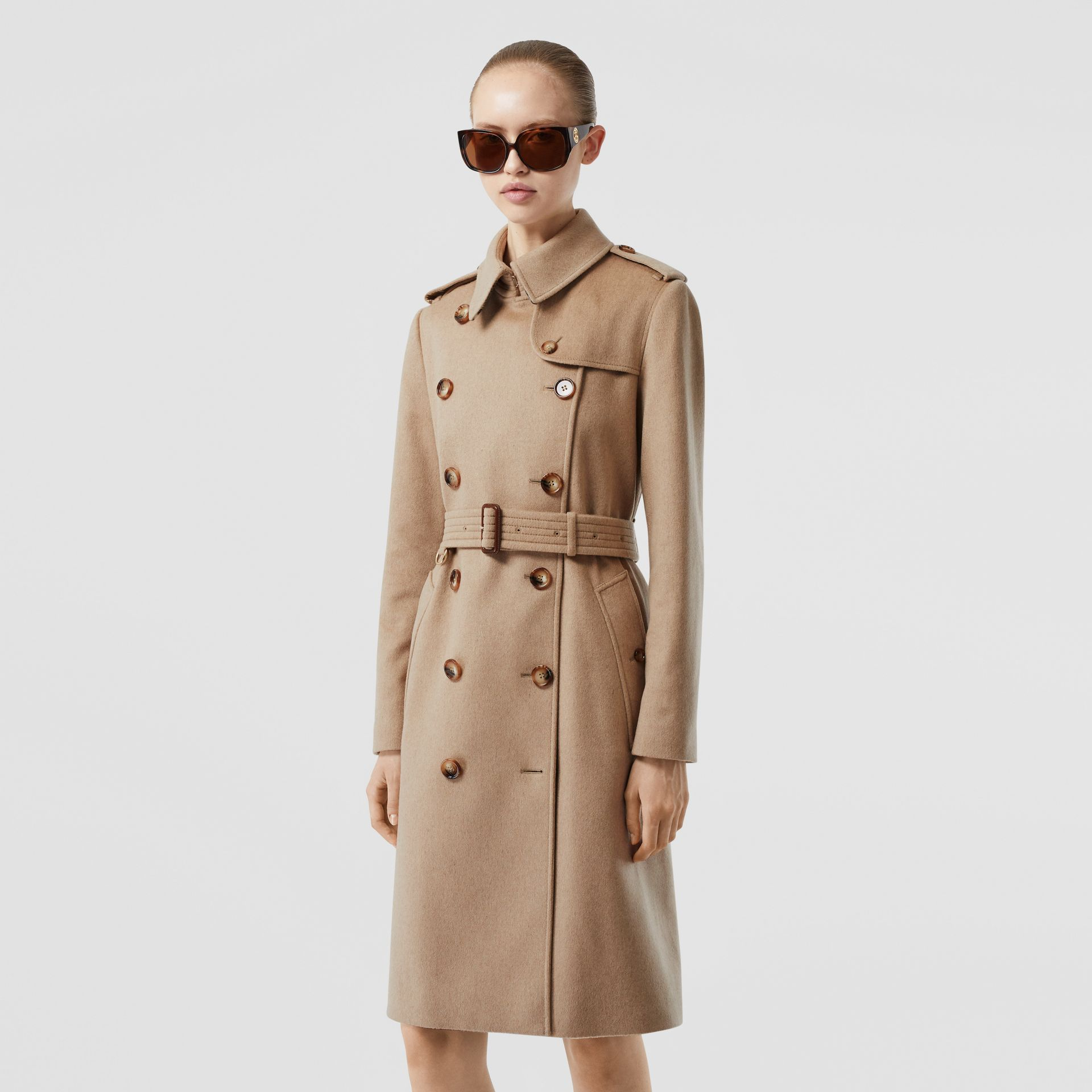 Cashmere Trench Coat in Camel - Women | Burberry United Kingdom - gallery image 6