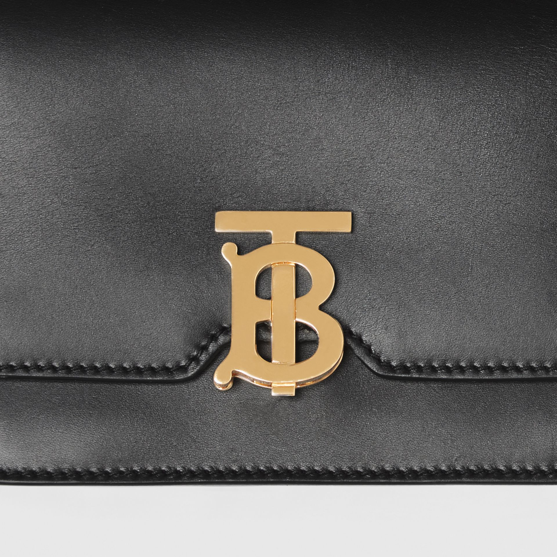 Belted Leather TB Bag in Black - Women | Burberry - gallery image 1