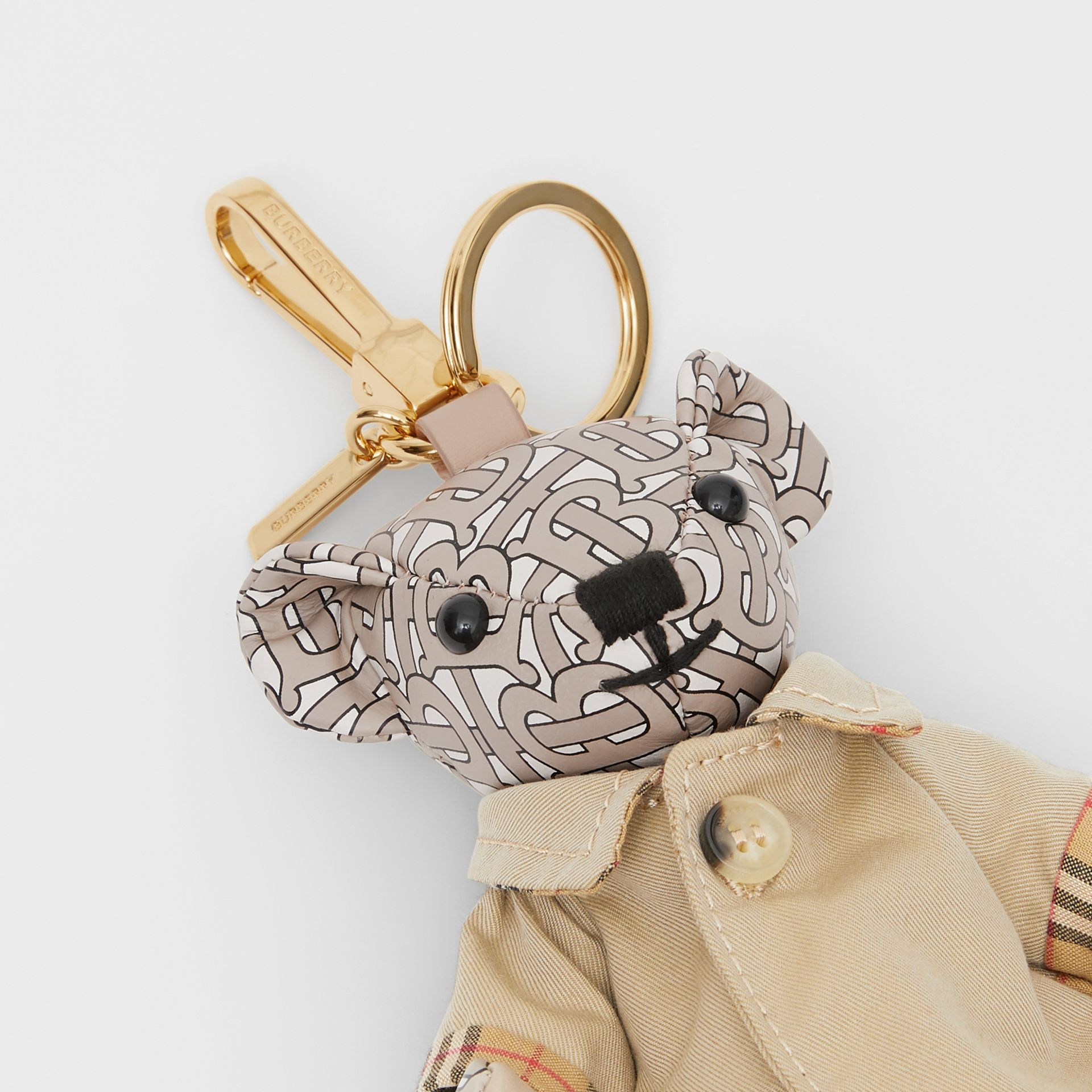 Thomas Bear Charm in Trench Coat in Beige - Women | Burberry - gallery image 1