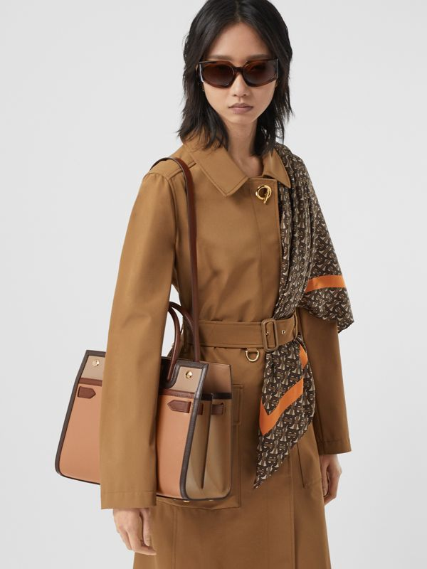Small Leather Two-handle Title Bag in Soft Fawn - Women | Burberry - cell image 2