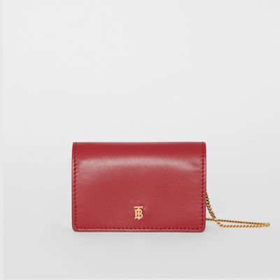 Leather Card Case With Detachable Strap by Burberry