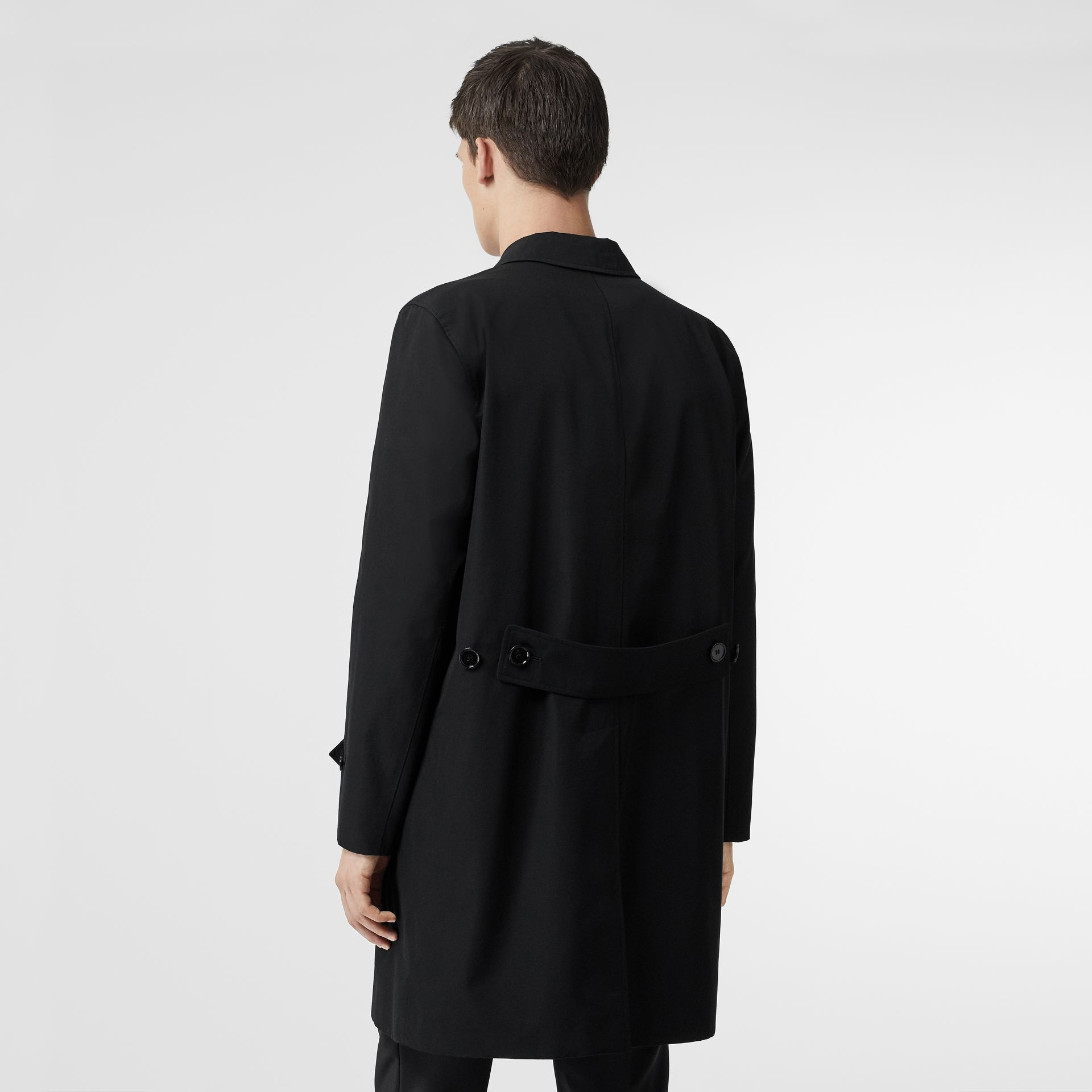 Cotton Gabardine Car Coat in Black - Men | Burberry Australia - gallery image 2