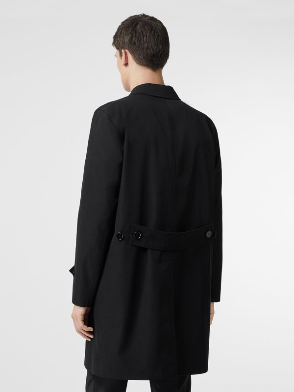 Cotton Gabardine Car Coat in Black - Men | Burberry - cell image 2