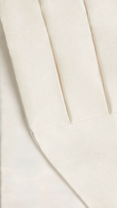 White Pleated Silk Cummerbund - Image 2