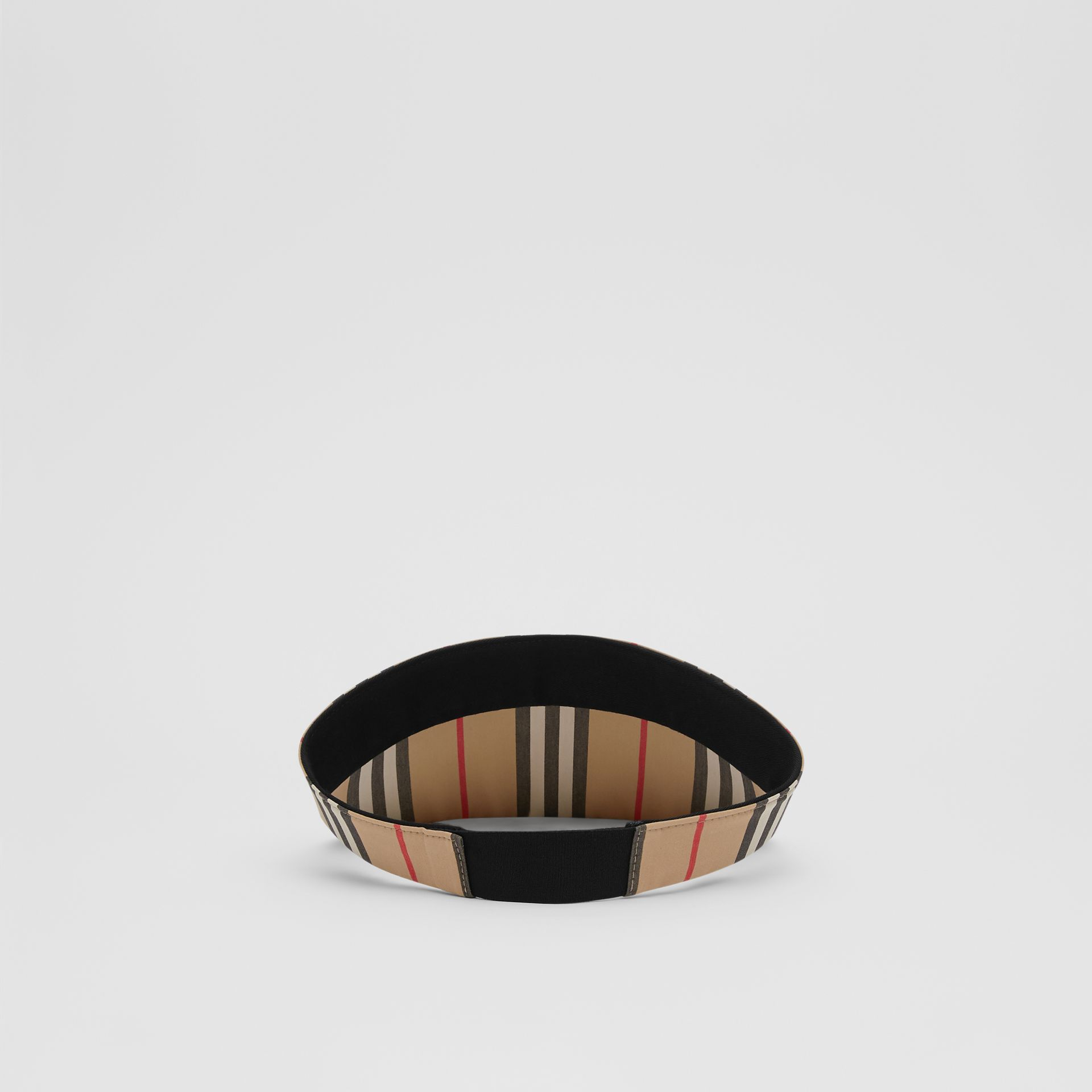 Icon Stripe Visor in Archive Beige | Burberry United Kingdom - gallery image 5