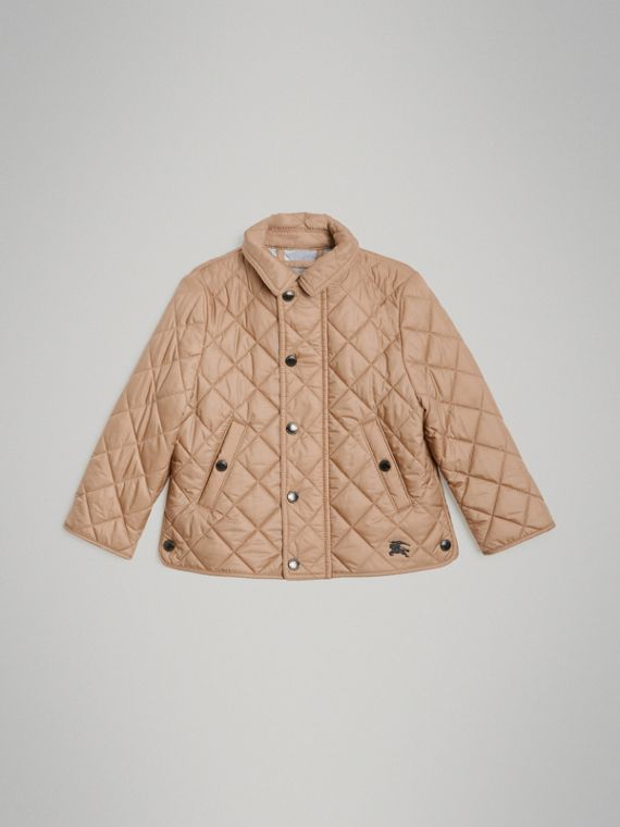 Lightweight Diamond Quilted Jacket in Camel